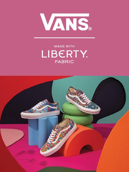 Specjalna kolekcja Vans powstała we współpracy z drukarnią Liberty Fabric Vans x Liberty Fabric