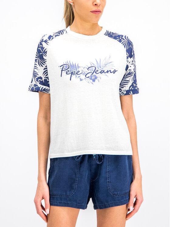 Pepe Jeans Pepe Jeans T-Shirt PL504036 Biały Regular Fit