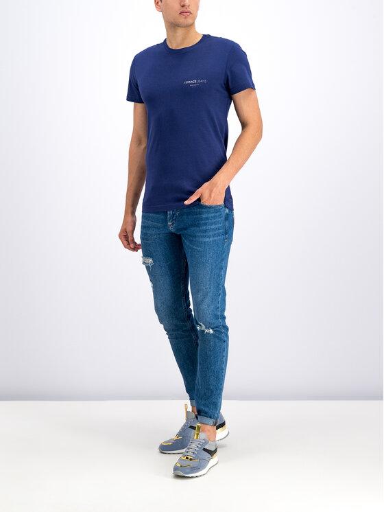 Versace Jeans Versace Jeans T-Shirt B3GTB76R Tmavomodrá Slim Fit