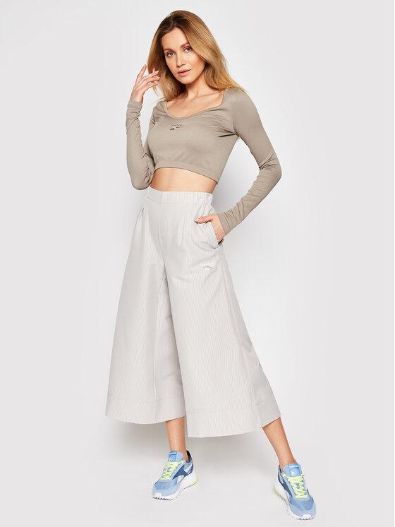 Reebok Reebok Bluzka Classics Wardrobe Essentials GJ4886 Brązowy Slim Fit