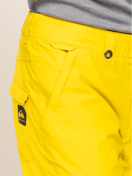 Quiksilver Quiksilver Snowboardové nohavice Estete EQYTP03116 Žltá Modern Fit