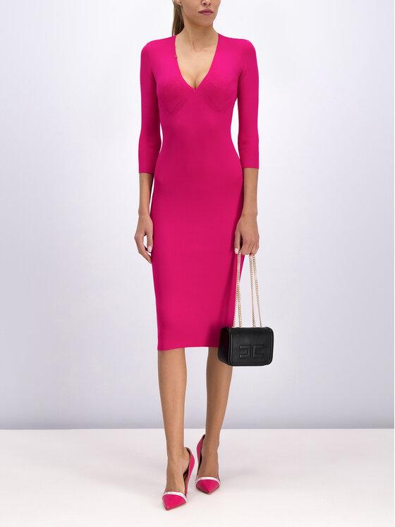 Elisabetta Franchi Elisabetta Franchi Φόρεμα υφασμάτινο AM-53B-96E2-V229 Ροζ Slim Fit