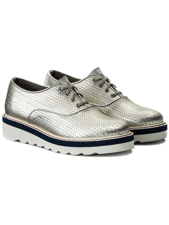 Tommy Hilfiger Tommy Hilfiger Oxford cipők Paulina 2A1 FW0FW01050 Ezüst