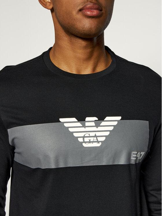 EA7 Emporio Armani EA7 Emporio Armani Тениска с дълъг ръкав 3GPT11 PJT7Z 1554 Черен Regular Fit