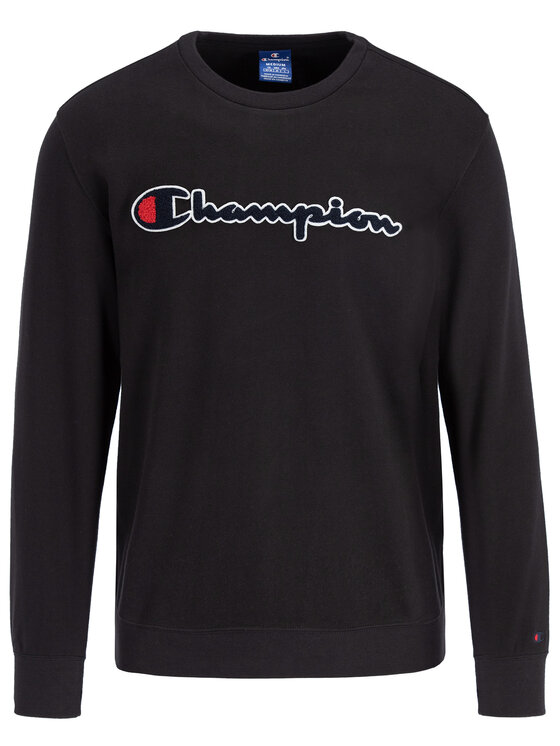 Champion Champion Pulóver 212942 Fekete Regular Fit