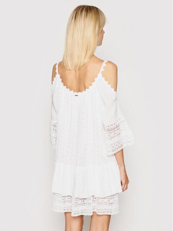 Guess Guess Sukienka letnia Dalila W0GK1F WCUZ0 Biały Oversize
