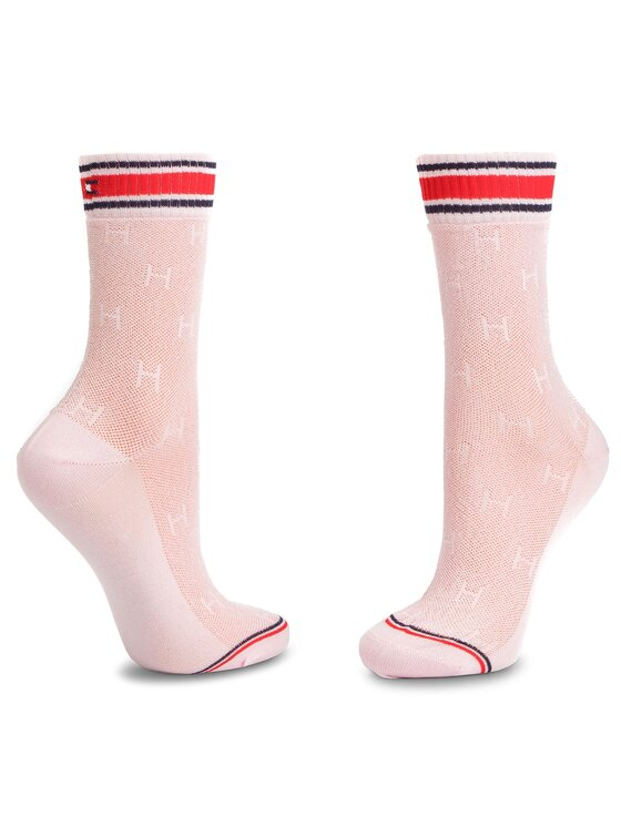 Tommy Hilfiger Tommy Hilfiger 2 pár hosszú szárú női zokni 393008001 Rózsaszín