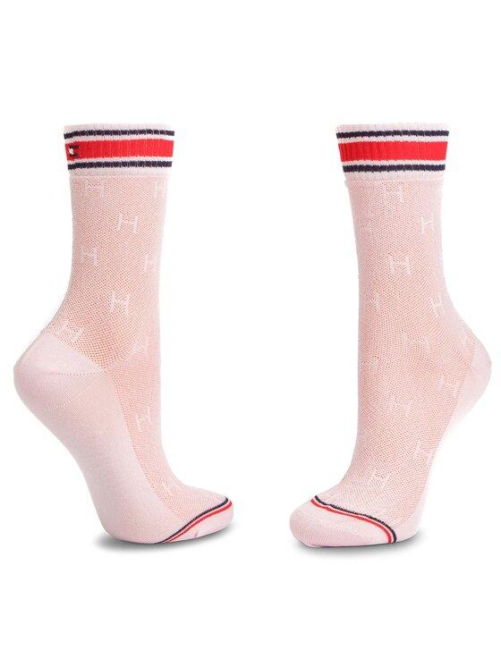 Tommy Hilfiger Tommy Hilfiger Moteriškų ilgų kojinių komplektas (2 poros) 393008001 Rožinė