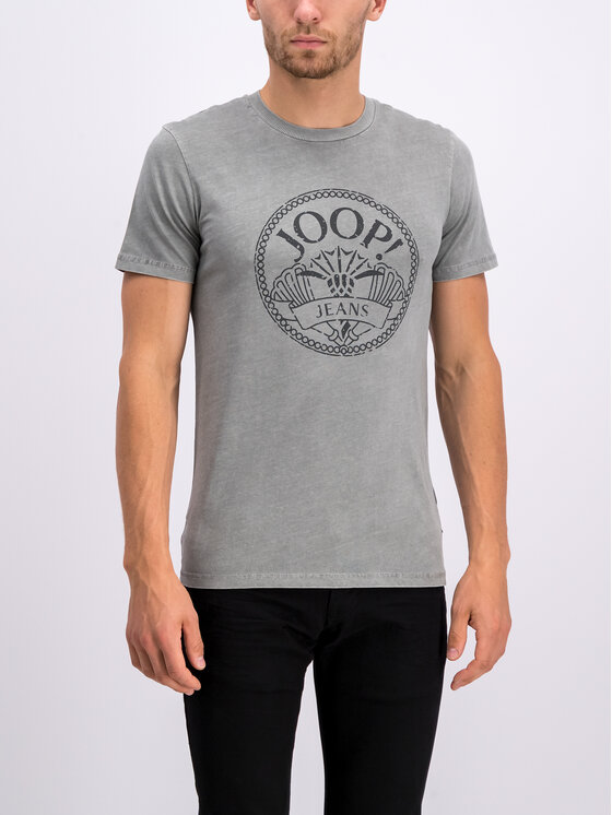 Joop! Jeans Joop! Jeans Tričko 30017375 Sivá Modern Fit