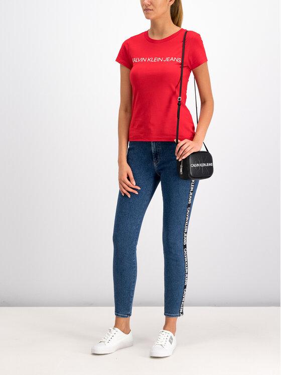 Calvin Klein Jeans Calvin Klein Jeans T-Shirt Institutional Logo J20J207940 Czerwony Regular Fit