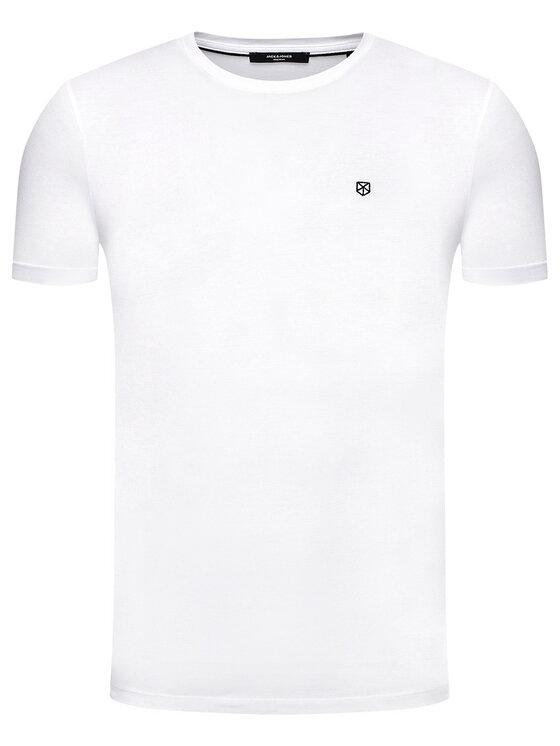 Jack&Jones PREMIUM Jack&Jones PREMIUM T-Shirt Blahardy 12166527 Biały Slim Fit