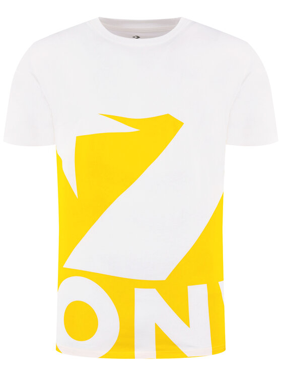Converse Converse T-Shirt Star Chevron Icon Remix 10018381-A03 Bílá Oversize
