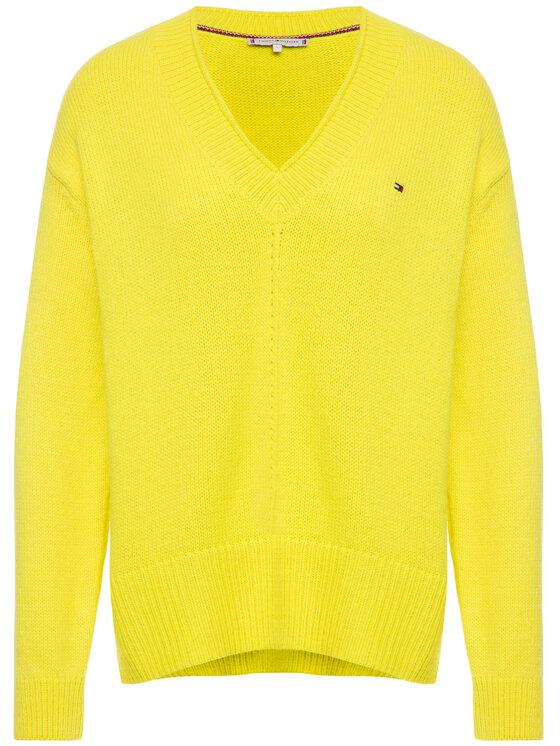 Tommy Hilfiger Tommy Hilfiger Sweater Cevie WW0WW26717 Sárga Oversize