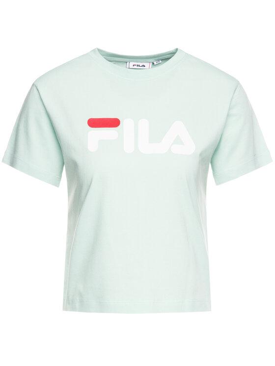 Fila Fila Marškinėliai Viivika 687212 Žalia Regular Fit