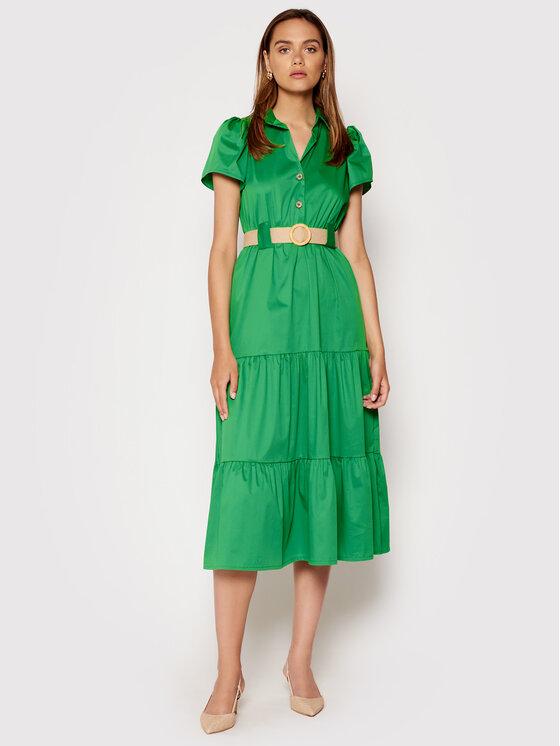 Rinascimento Kasdieninė suknelė CFC0017900002 Žalia Regular Fit