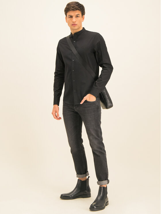 Calvin Klein Jeans Calvin Klein Jeans Košeľa J30J314233 Čierna Slim Fit