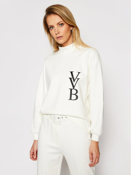 Victoria Victoria Beckham Džemperis Ponti 2121JSS002388A Balta Regular Fit
