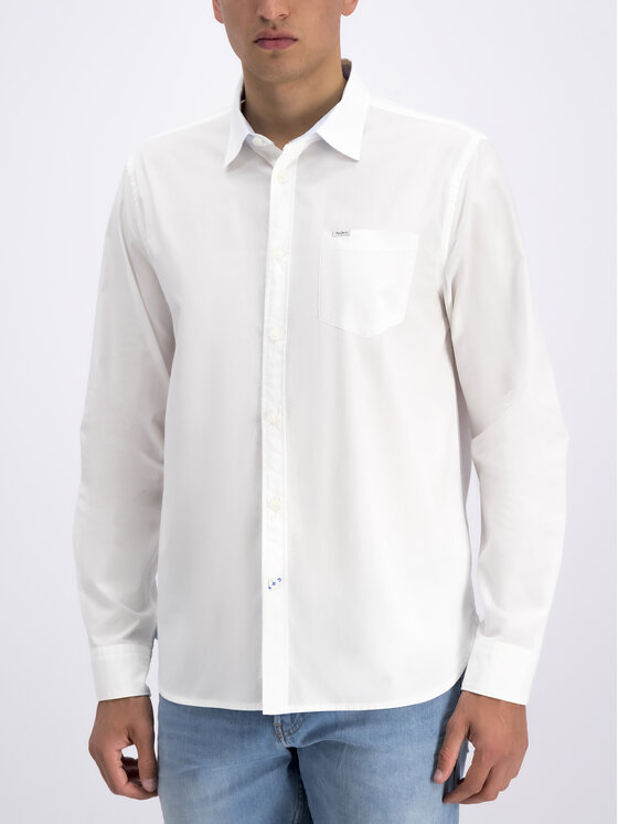 Pepe Jeans Pepe Jeans Риза PM305814 Бял Regular Fit