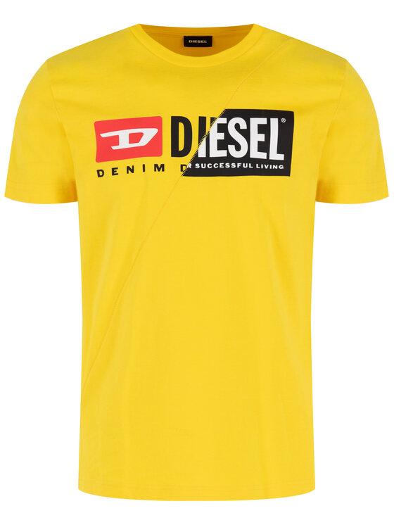 Diesel Diesel T-shirt T-Diego-Cuty 00SDP1 0091A Giallo Regular Fit