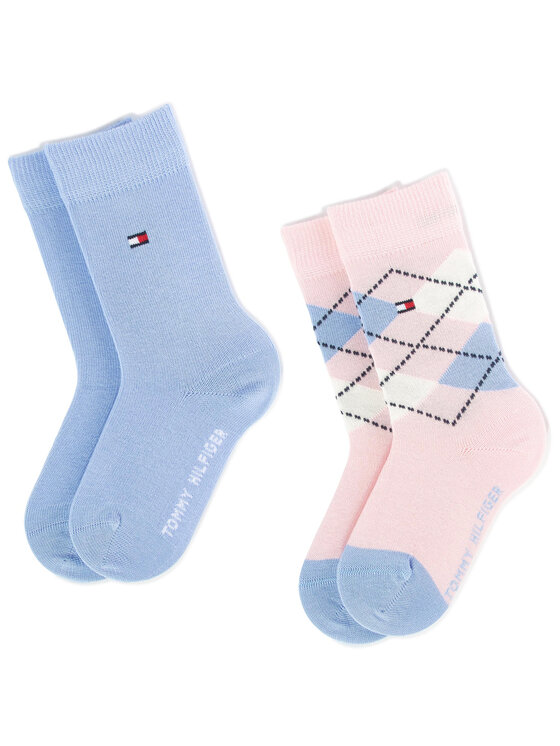 TOMMY HILFIGER TOMMY HILFIGER Vaikiškų ilgų kojinių komplektas (2 poros) 334013001 Mėlyna
