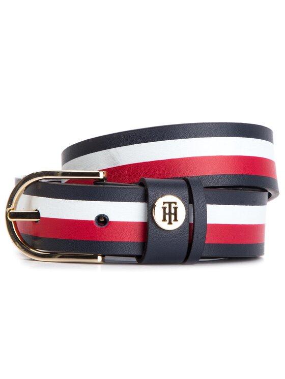 Tommy Hilfiger Tommy Hilfiger Dámský pásek Classic Belt 2.5 AW0AW06544 Tmavomodrá