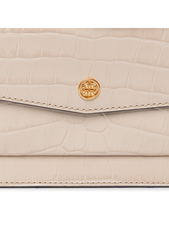 Tory Burch Tory Burch Torebka Robinson Embossed Double-Strap Convertible Shoulder Bag 75211 Beżowy