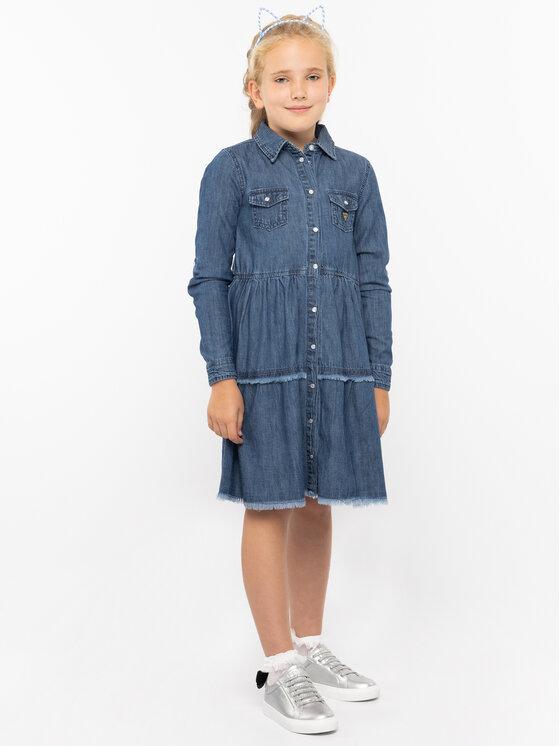 Guess Guess Φόρεμα καθημερινό J93K32 D3870 Σκούρο μπλε Regular Fit