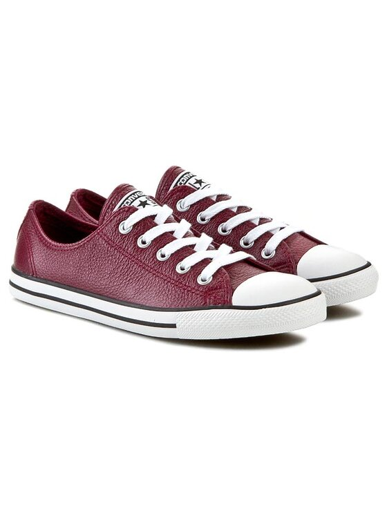 Converse Converse Sneakers aus Stoff CT Dainty Ox 544850C Dunkelrot