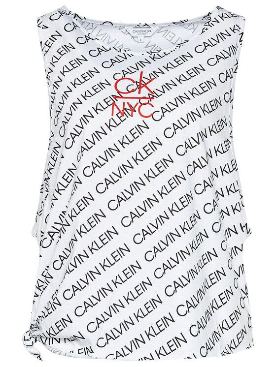 Calvin Klein Swimwear Calvin Klein Swimwear Top Side Knotted KW0KW01018 Bílá Regular Fit