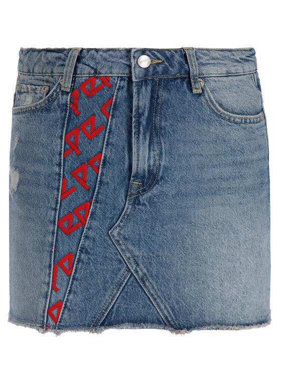 Pepe Jeans Pepe Jeans Džínová sukně PL900819 Tmavomodrá Regular Fit