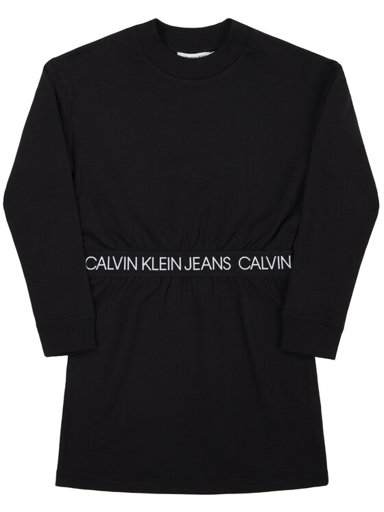 Calvin Klein Jeans Calvin Klein Jeans Vestito da giorno Logo Waistband IG0IG00423 Nero Regular Fit
