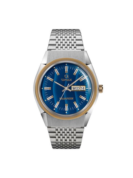Timex Laikrodis Q Timex Reissue TW2T80800 Sidabrinė