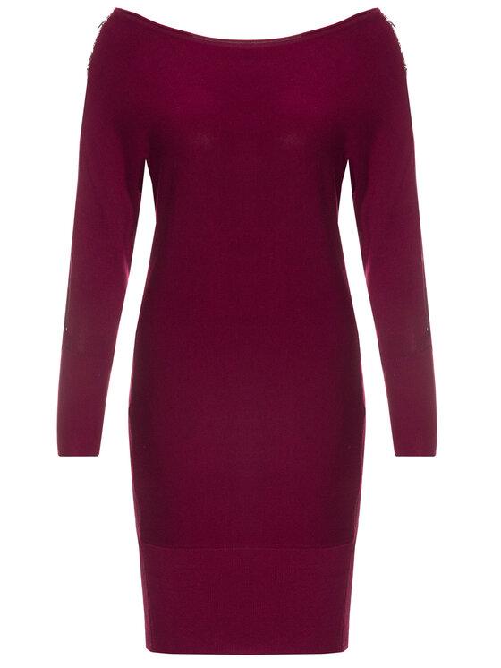 Guess Guess Robe en tricot Carmen W94K1F Z2760 Bordeaux Slim Fit