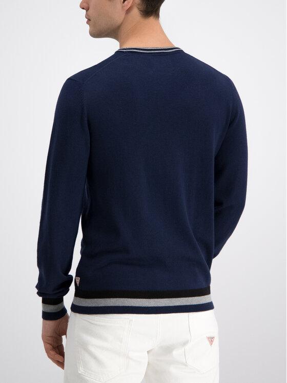 Guess Guess Пуловер Bart M93R22 Z2EO0 Тъмносин Regular Fit