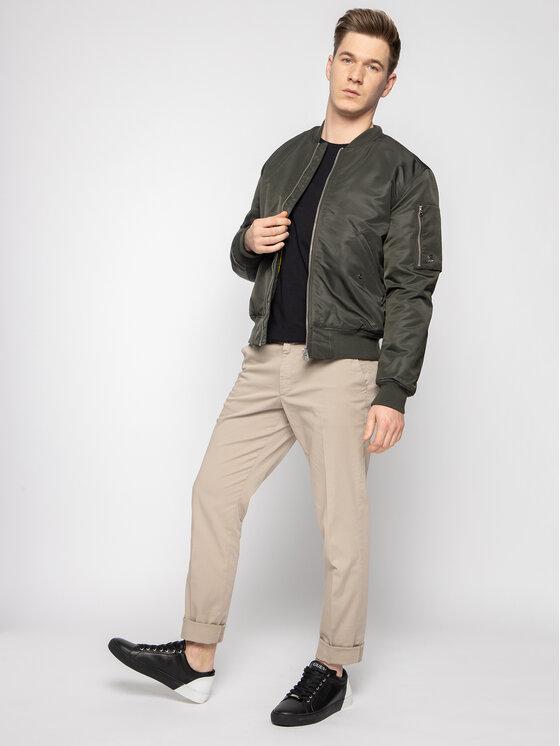 Wrangler Wrangler T-Shirt Sign Off Tee W7C07D301 Schwarz Regular Fit