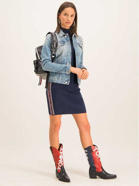 Tommy Jeans Tommy Jeans Úpletové šaty Tjw Sweaterk DW0DW07200 Tmavomodrá Slim Fit