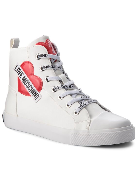 LOVE MOSCHINO LOVE MOSCHINO Trampki JA15023G16ID0100 Biały