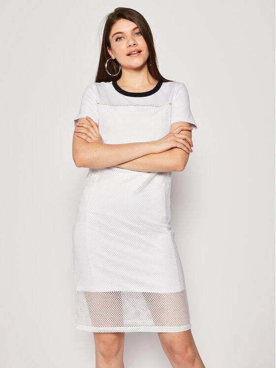 Liu Jo Sport Kasdieninė suknelė TA0069 J7898 Balta Regular Fit