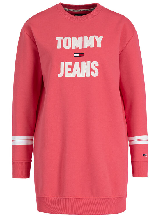 Tommy Jeans Tommy Jeans Плетена рокля Tjw Logo DW0DW07210 Розов Regular Fit