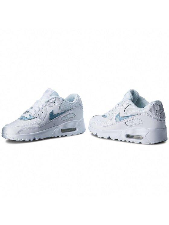 Nike Nike Buty Air Max 90 Mesh (GS) 833418 111 Biały