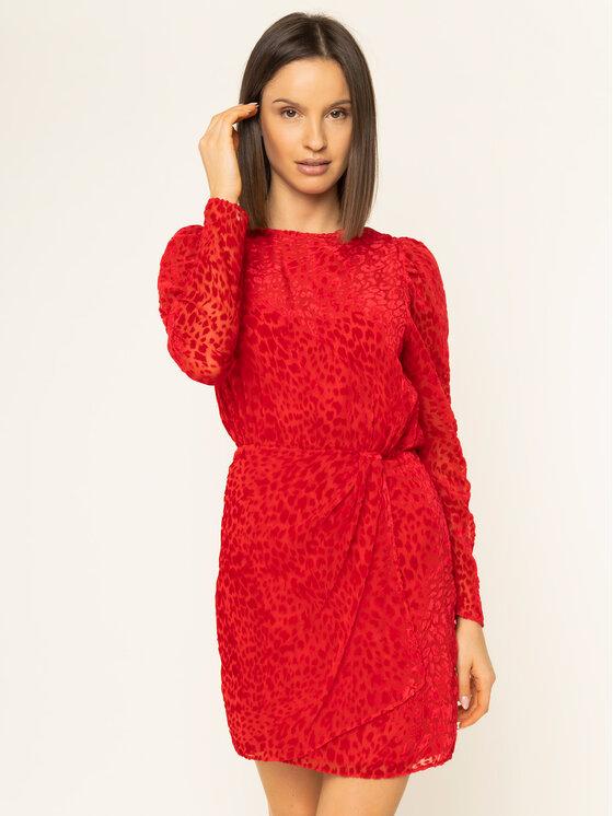 The Kooples Sukienka koktajlowa FROB19184K Czerwony Regular Fit