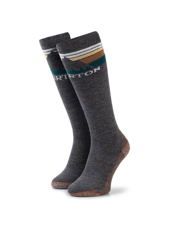 Burton Ilgos Moteriškos Kojinės Emblem Midweight Sock 10069105001 Pilka