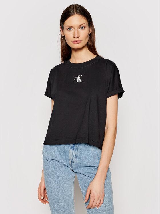 Calvin Klein Jeans T-Shirt J20J216353 Czarny Boxy Fit