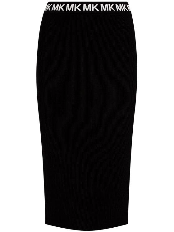 MICHAEL Michael Kors MICHAEL Michael Kors Fustă tip creion Logo Trim MF97F1LBVC Negru Slim Fit