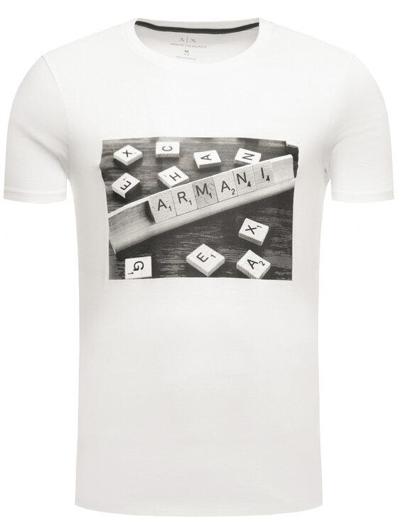 Armani Exchange Armani Exchange T-Shirt 3HZTBC ZJ2HZ 1100 Weiß Regular Fit