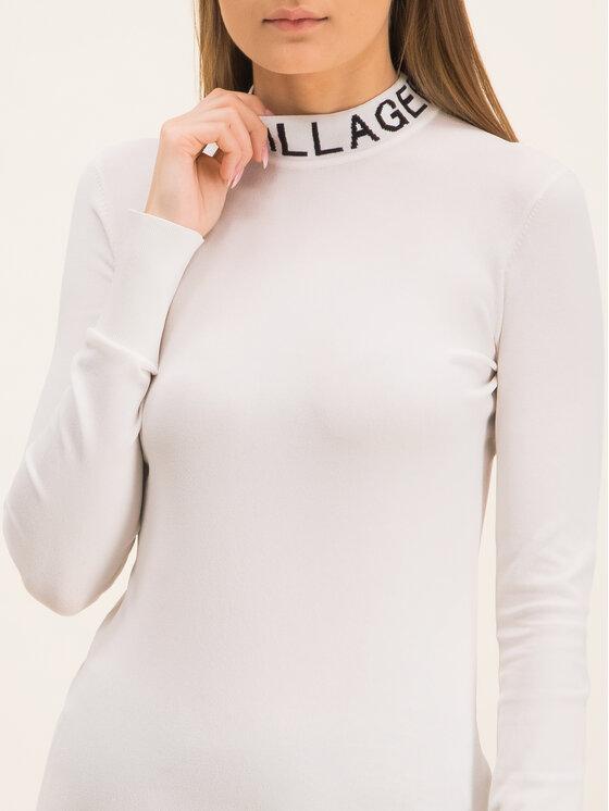 KARL LAGERFELD KARL LAGERFELD Bluză cu gât 96KW2004 Alb Slim Fit