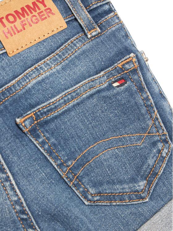 Tommy Hilfiger Tommy Hilfiger Szorty jeansowe Nora Basic KG0KG05773 D Niebieski Skinny Fit