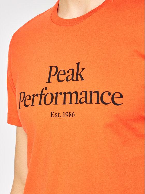 Peak Performance Peak Performance T-Shirt Orig G66762019 Pomarańczowy Regular Fit