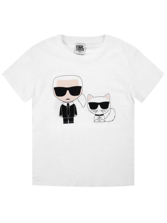 KARL LAGERFELD KARL LAGERFELD Marškinėliai Z15249 D Balta Regular Fit