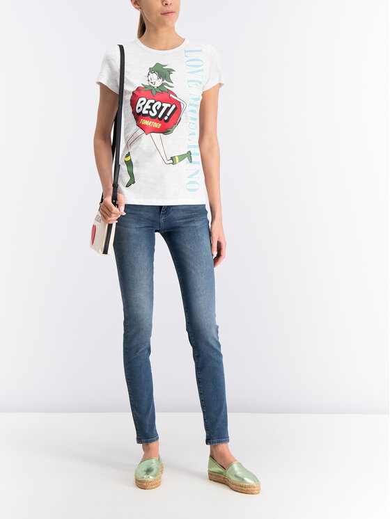 LOVE MOSCHINO LOVE MOSCHINO T-Shirt W4F7346M4021 Biały Regular Fit